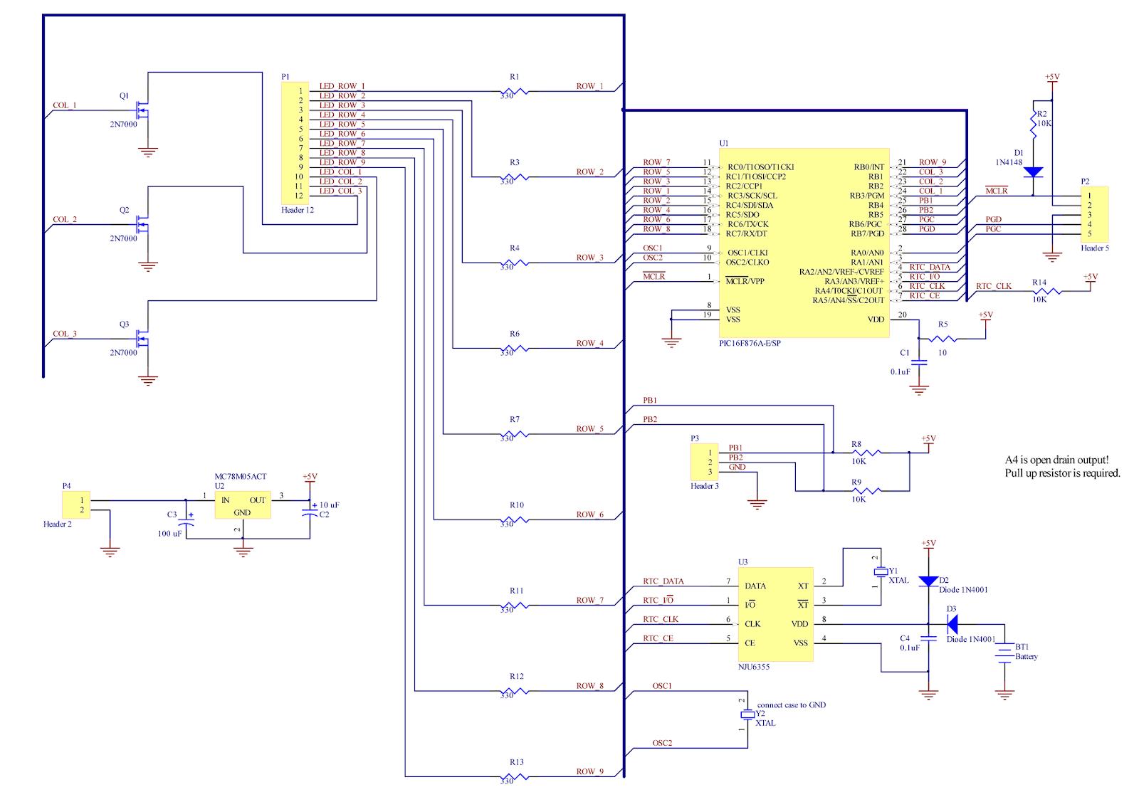 Ap Digital Light Wood Block Led Clock Part 1 Circuit Controller Schematic