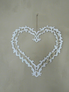White metal cut-out heart