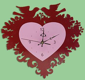 Lovebird Wallclock