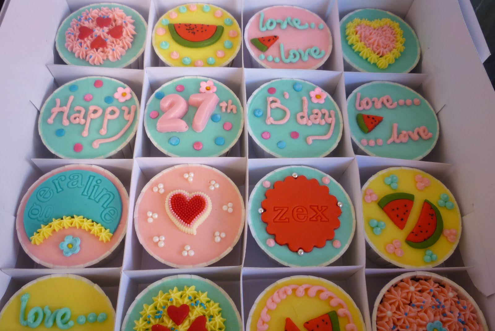 petite cupcakes: happy 27th birthday ♥
