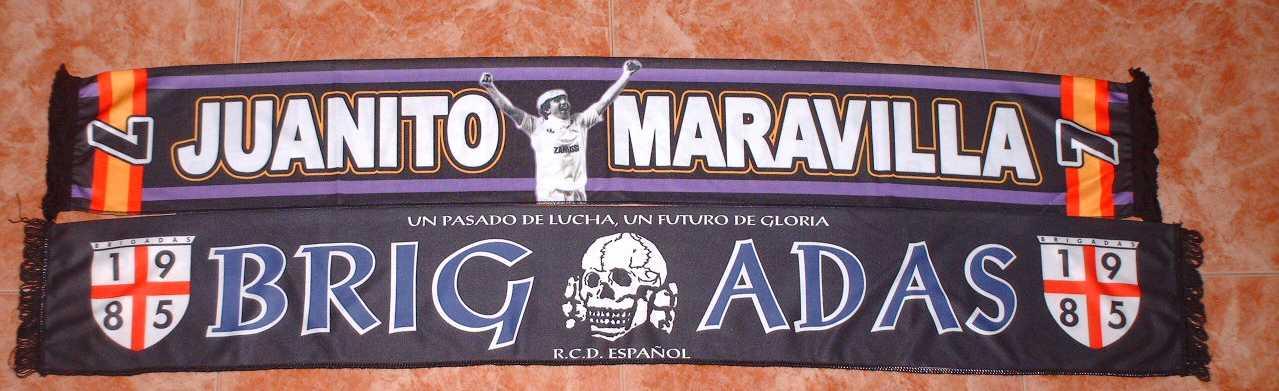 BUFANDAS EN RASO (Juanito maravilla Ultras Sur, Brigadas Español, España, Reyes de Europa Ultras Sur, Ultras Sur 25º Real Madrid)