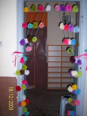 Ponpon kapı süsü