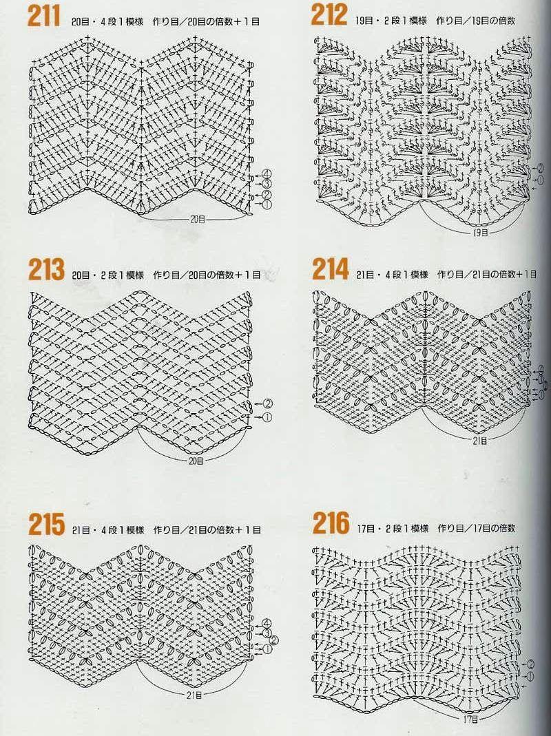 Вязание волны и зигзаги 73