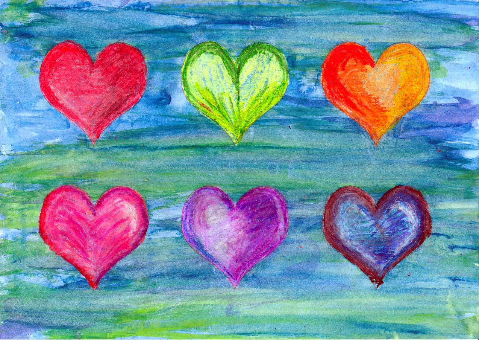 Simple art project ideas hearts for Simple art projects