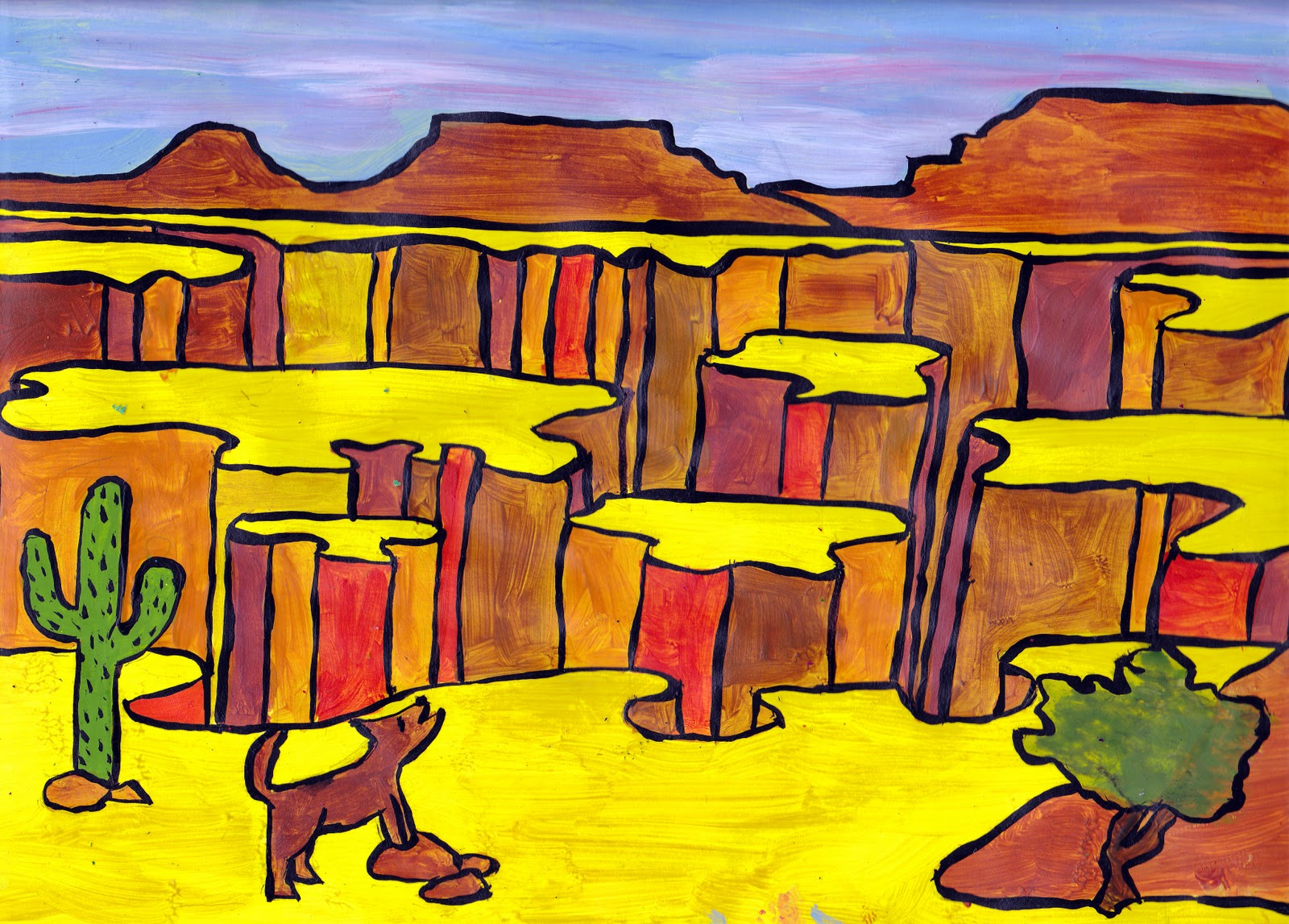 Canyon Drawing For Kids | www.pixshark.com - Images ...