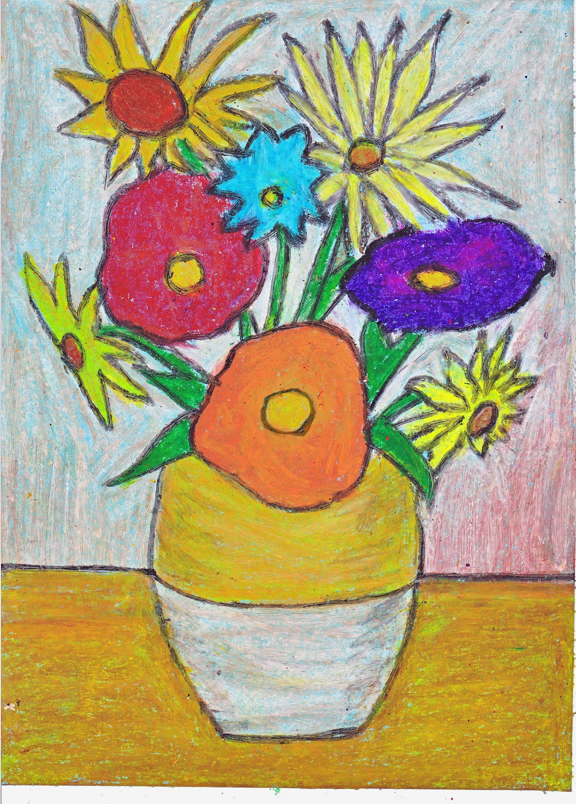 Simple art project ideas van gogh flowers for Simple art projects