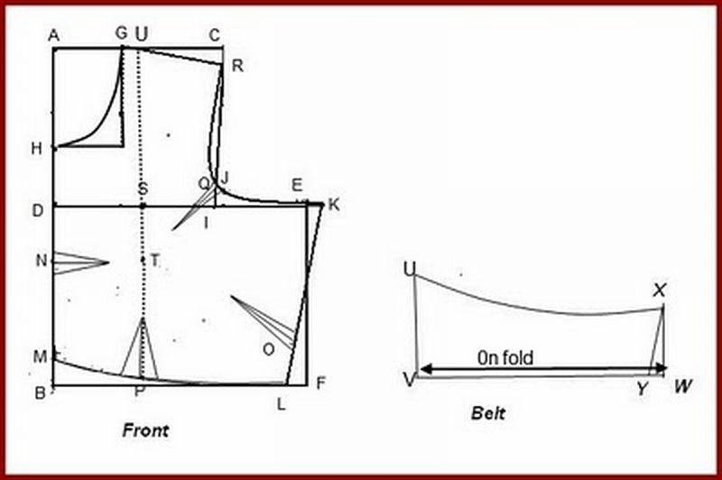 Blouse Cutting Diagram 78