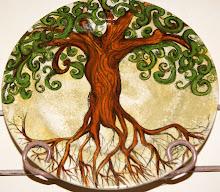 Tree on plate