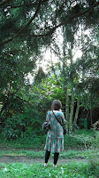 mihoko takes picture of katori's woods