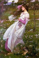 Rosalía de Castro...ahí va la loca soñando con la eterna primavera de la vida y de los campos