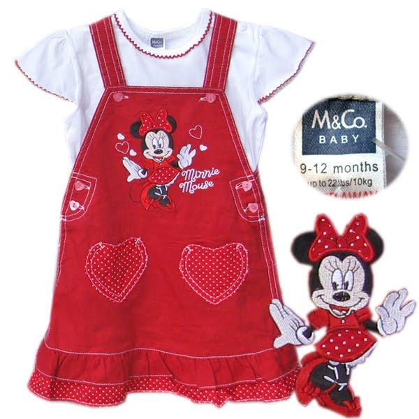 M co red dress 3 months