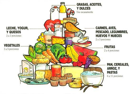 LA PIRÁMIDE NUTRICIONAL SALUDABLE