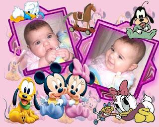 Fotomontajes Mickey Beb     Imagui