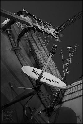 antenas en azotea