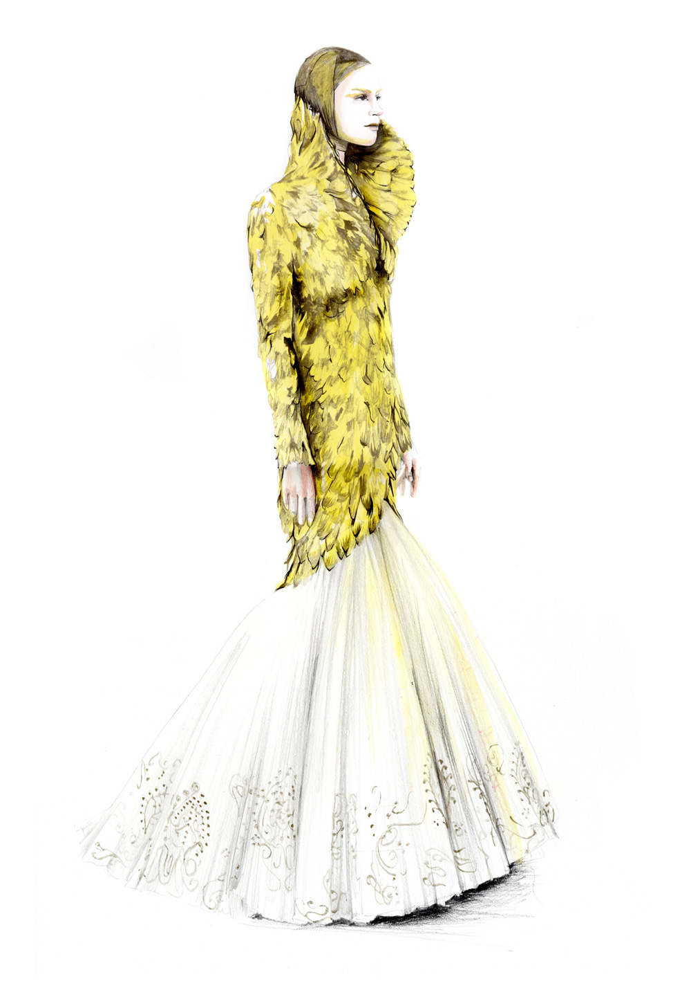 309 best fashion illustration - Alexander McQueen (by for him) 71