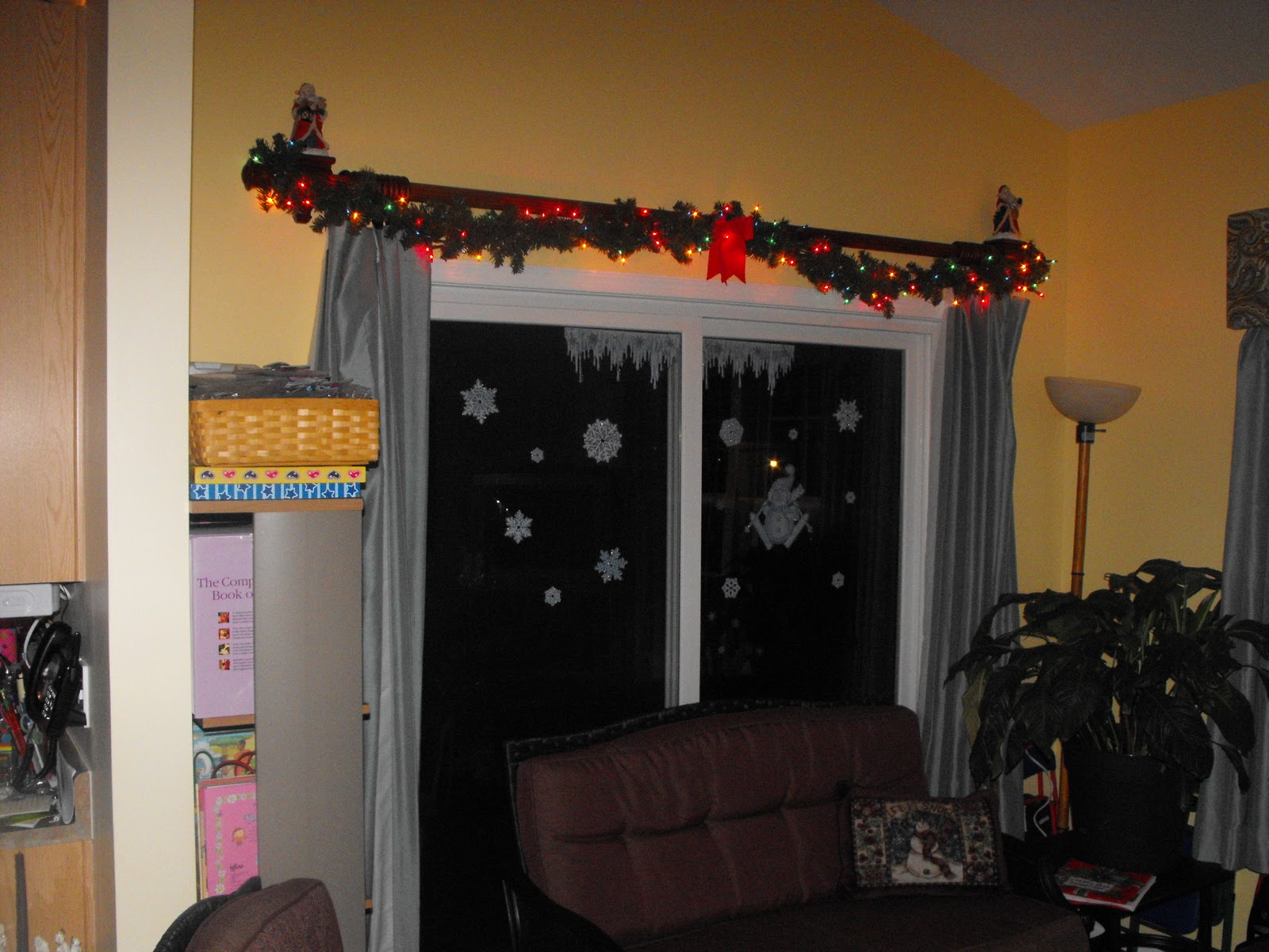Christmas Decorations Sliding Glass Doors : Abundant chaos blessings inside of the house