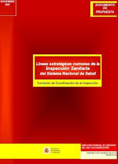 Portada del documento «Propuesta de Líneas Estratégicas Comunes de la Inspección Sanitaria del SNS», para el CITSNS del 12/12/2007