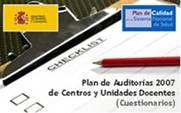 Logo del Plan de Auditorías Docentes del Ministerio de Sanidad y Consumo