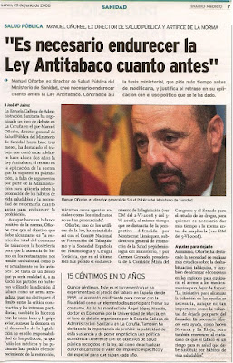 Manuel Oorbe en Diario Mdico del 23/06/2008