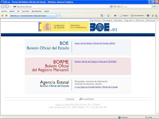 Nuevo portal general de BOE, BORME y Agencia Estatal del BOE