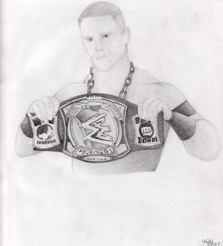 JOHN CENA WWE CHAMP PENCIL DRAWING.. title=
