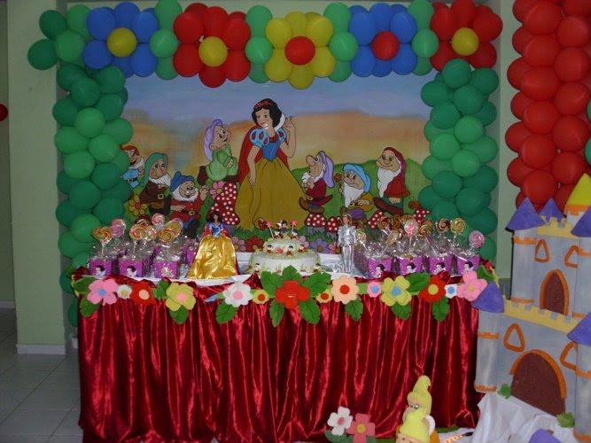 decoracao festa infantil tema branca de neve:Rá Tim Bum – Dec de festa Infantil: TEMA BRANCA DE NEVE 4MT