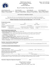 Family Sleep Center - Order Form