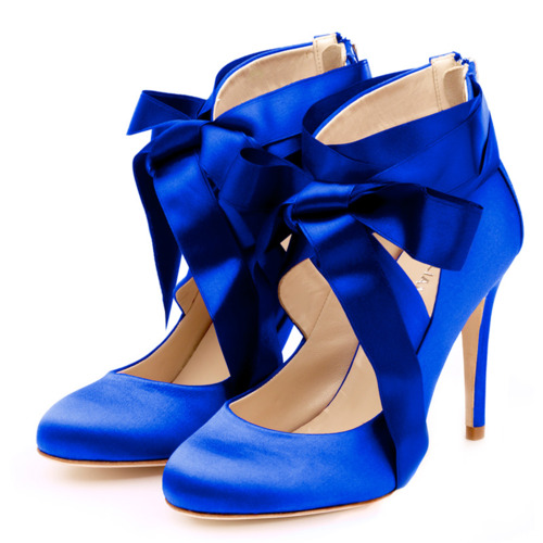 high heels and diet dr pepper blue satin trumps blue suede