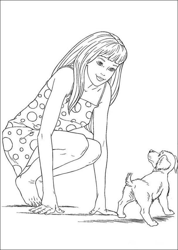 coloring pages for kids princess. barbie princess coloring pages for kids. free kids princess Barbie