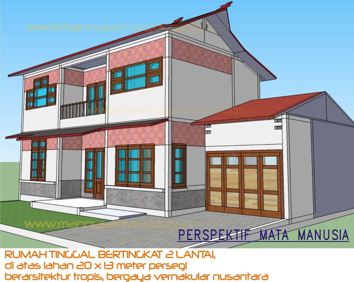 ManNusantara Design Indonesia: Rancangan Rumah Tinggal Bertingkat Dua ...