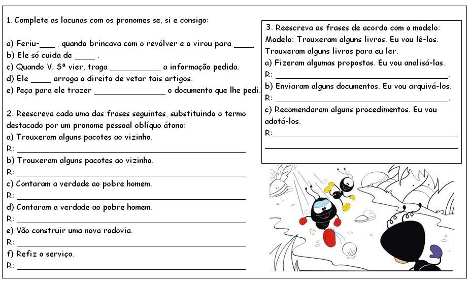 Populares ATIVIDADES PARA APOIO PEDAGÓGICO: Mais Pronomese outras WX59