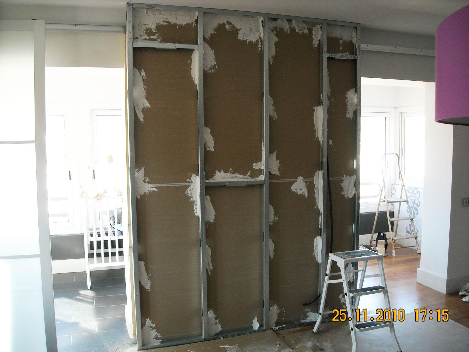 Poner Una Puerta Corredera Ideas Para Instalar Una Puerta  ~ Puertas Correderas Empotradas Pladur