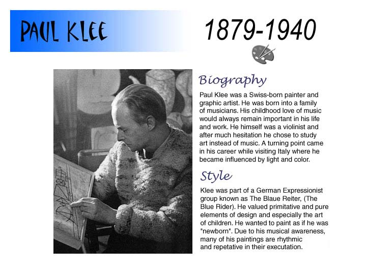 paul klee biography  for kids