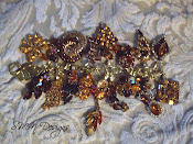 Fall Vintage Bling Charm Bracelet