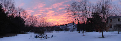panorama made from 4 snapshots in our back yard; click here for Full Size image