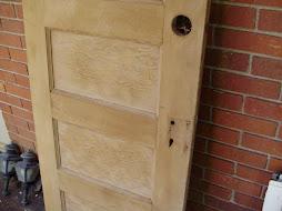 """5 panel heart pine door 23 5/8"""" x 70 3/4""""  $295"""