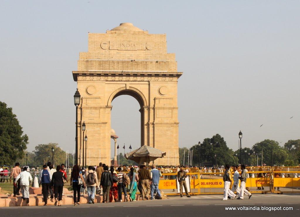 De Volta Ndia Delhi Da Porta Da Ndia Ao Parlamento