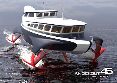 jacht Wodolot Knockout 45 hydroglaider: hydrofoil