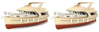 jacht Ramona 37: cross View 3D, obrazy 3D