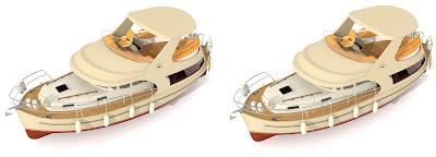 jacht Ramona 37:3D cross view, obrazy 3D