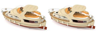 jacht Ramona 37: cros view 3D, obrazy 3D