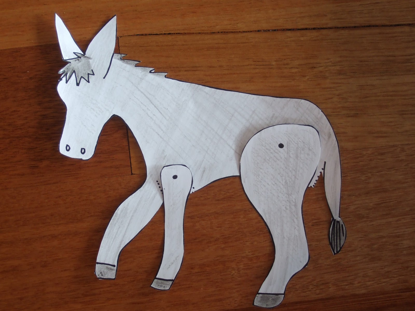 My Little Bookcase Make Your Own Winky Wonky Donkey Puppet JPG 1600x1200 Tail Template