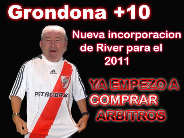 PARA LOS HINCHAS DE RIBER Grondona