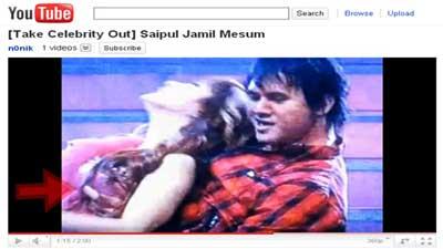 Video Saipul Jamil menyentuh toket  Devita Rusdi