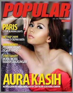 Foto Aura kasih Majalah Popular