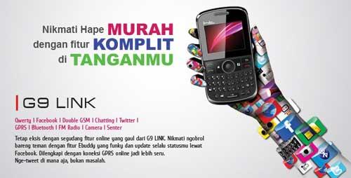 Spesifikasi Harga HT Mobile G9 Link