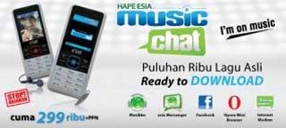 ponsel murah harga musik HP Esia Music Chat