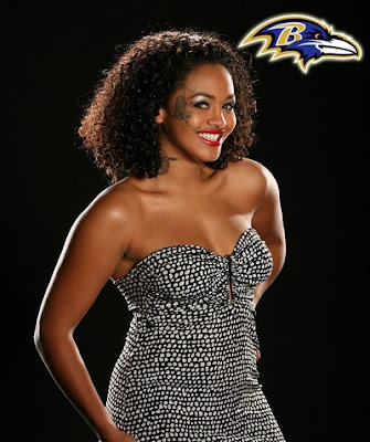 Baltimore Ravens- Tattooed face girl from For the Love of Ray J
