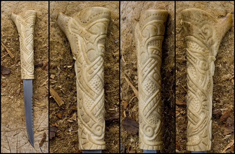 Norse and viking leather art bone jewelry drinking