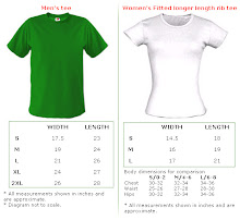 tshirt size chart